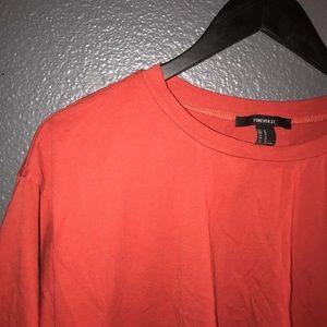 Orangey Cropped Top